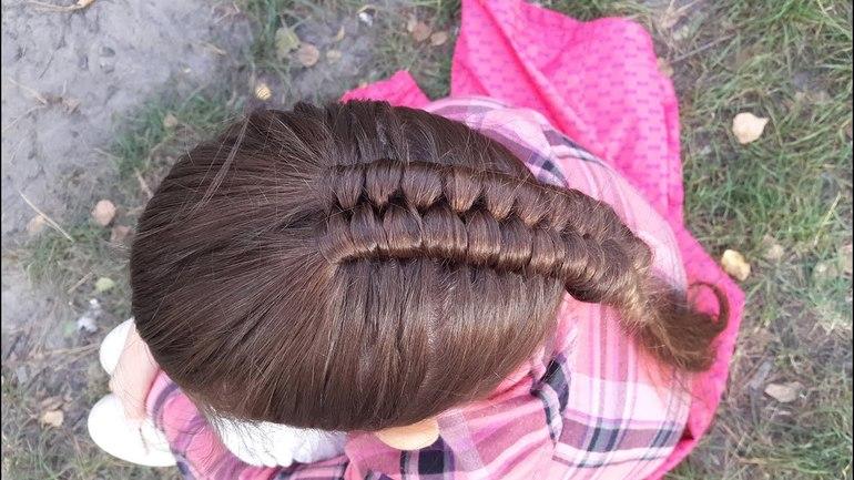 Способы плетения голландской косы наоборот