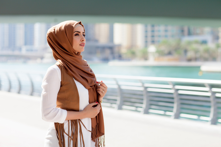 Арабская дива как завязать платок