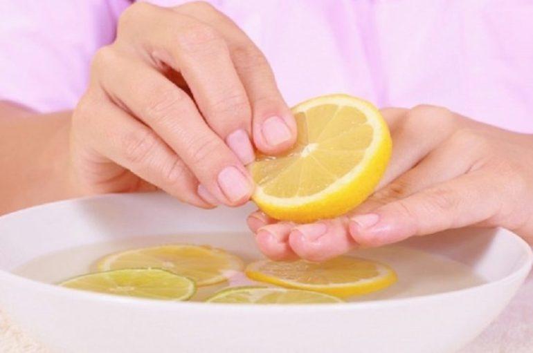 Отбеливание ногтевой пластины лимоном
