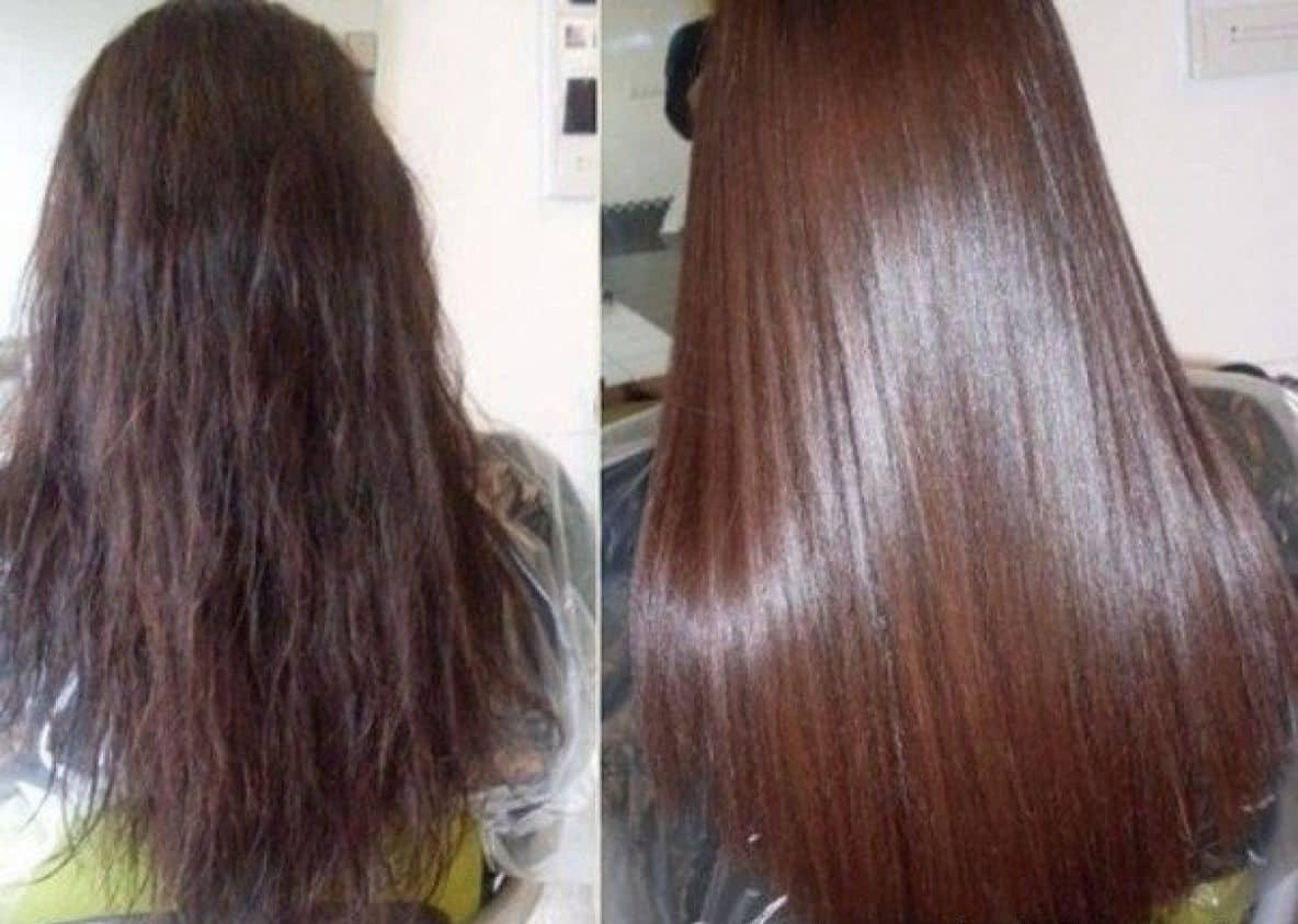Эффект быстрого ламинирования волос можно сделать с помощью маски, которая состоит из: кипяченой воды, бальзама и желатина