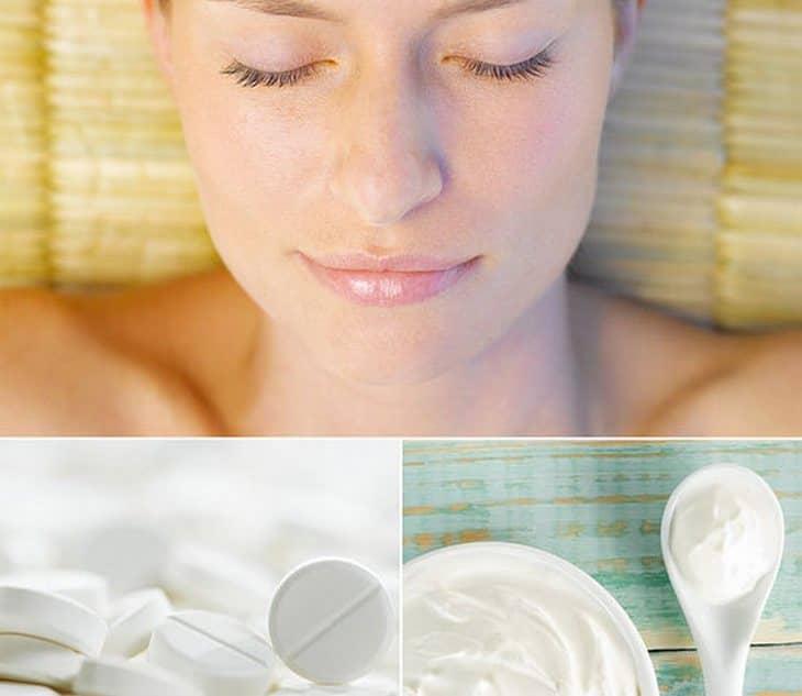 Маска для лица с аспирином обладает отшелушивающим действием, а также она способствует очищению пор