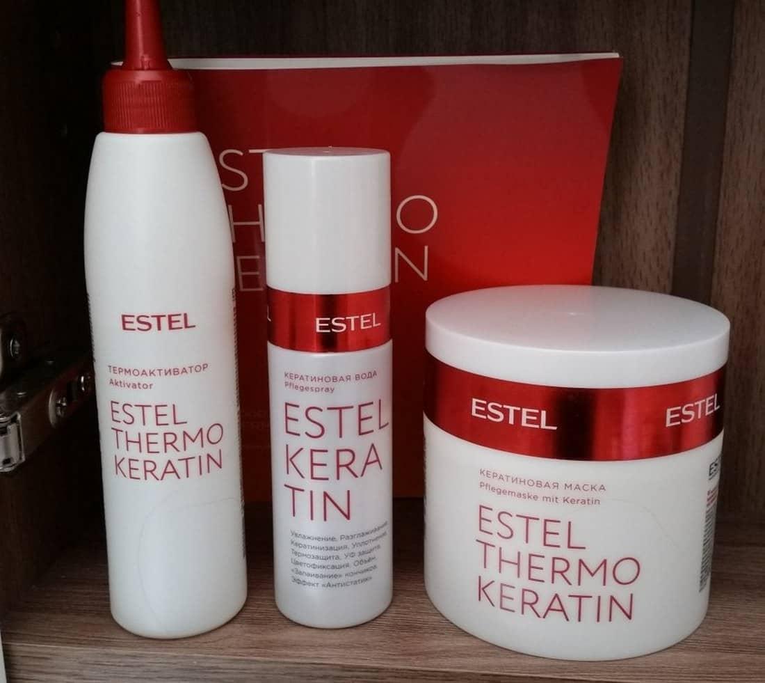После использования маски Estel Keratin волосы становятся мягкими, эластичными и блестящими