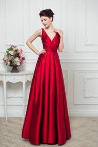 Элегантные атласные платья в пол: особенности и фасоны