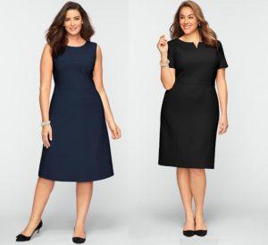 Идеи деловых платьев для полных женщин: 25 стильных образов