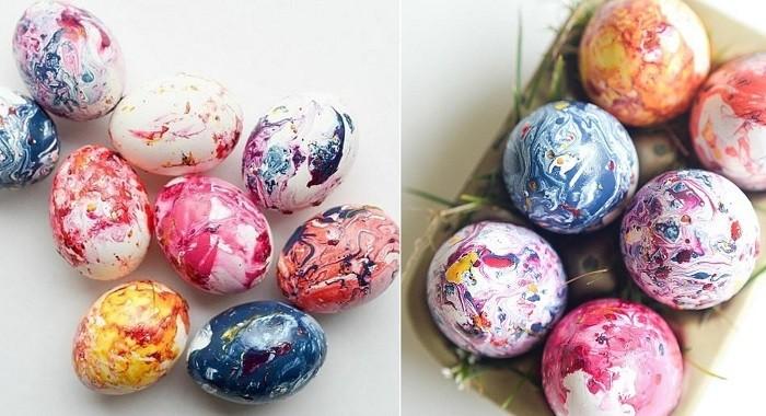 много крашенных яиц