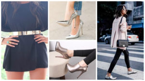Модный гардероб: 7 роскошных образов с металлическим блеском