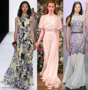 Модные длинные и красивые летние женские платья на каждый день