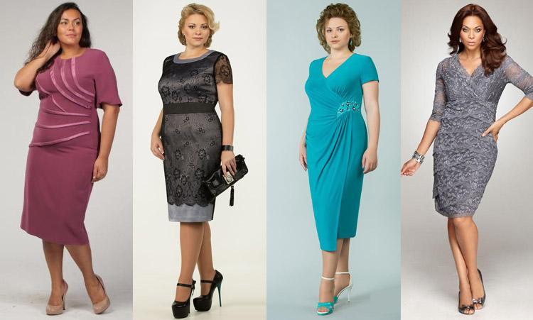 фасоны платьев для женщин 50 лет В горошек