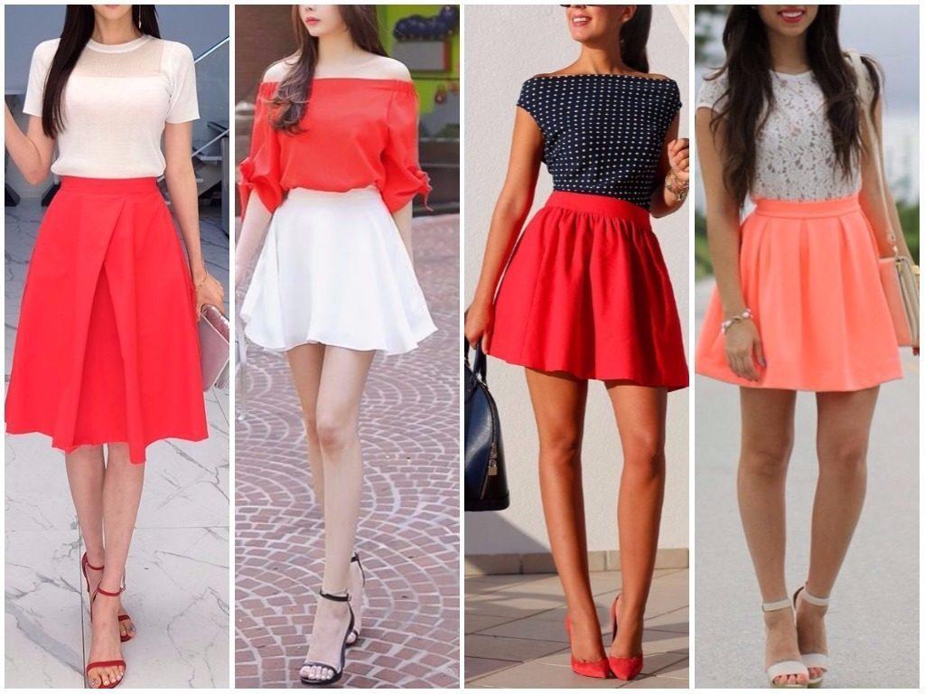 миди модные юбки