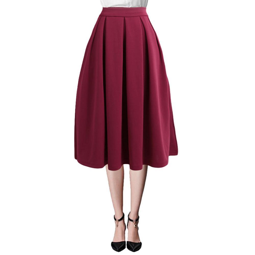 красная юбка DAS