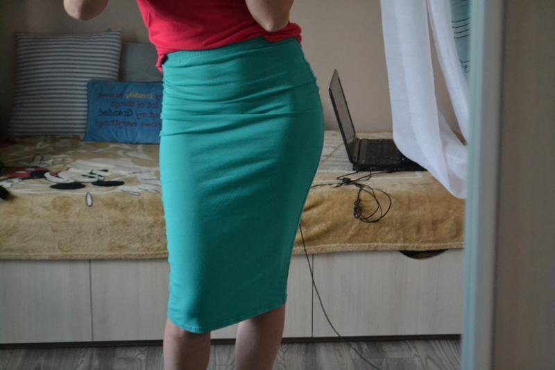 трикотажная юбка Зеленый