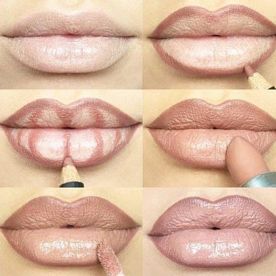 как увеличить губы визуально
