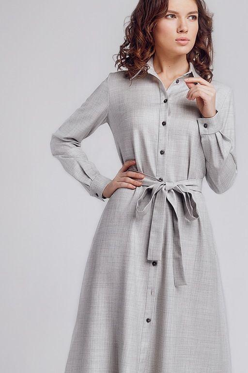 платье рубашка из Шерсти