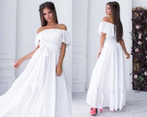 Красивые и модные модели белых платьев в пол, с чем их носить