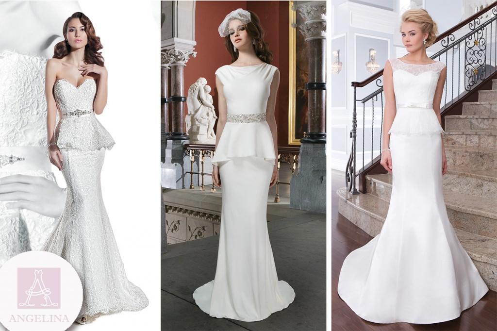 белое платье в пол С баской