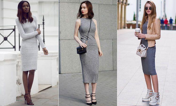 трикотажные платья Облегающее