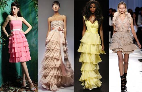 Оборки на платье