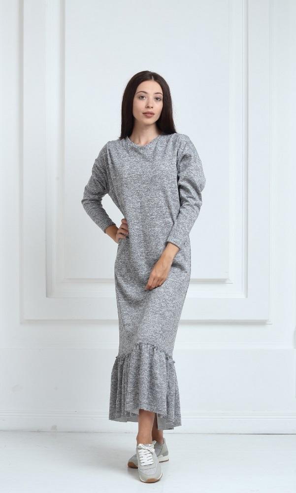 трикотажные платья Длинное