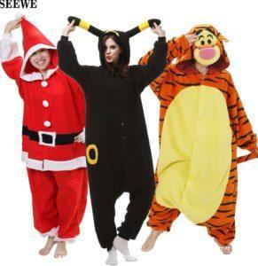 Красивые и удобные модели пижам-комбинезонов для взрослых и детей