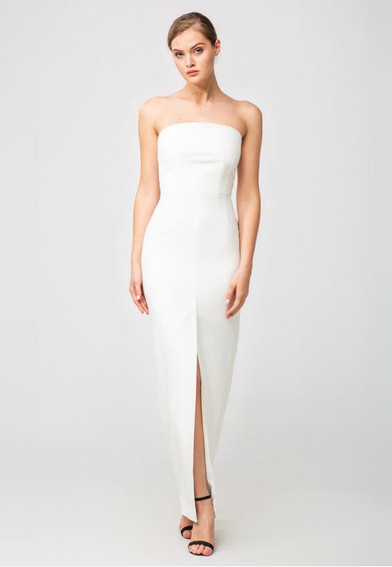 белое платье в пол Бюстье