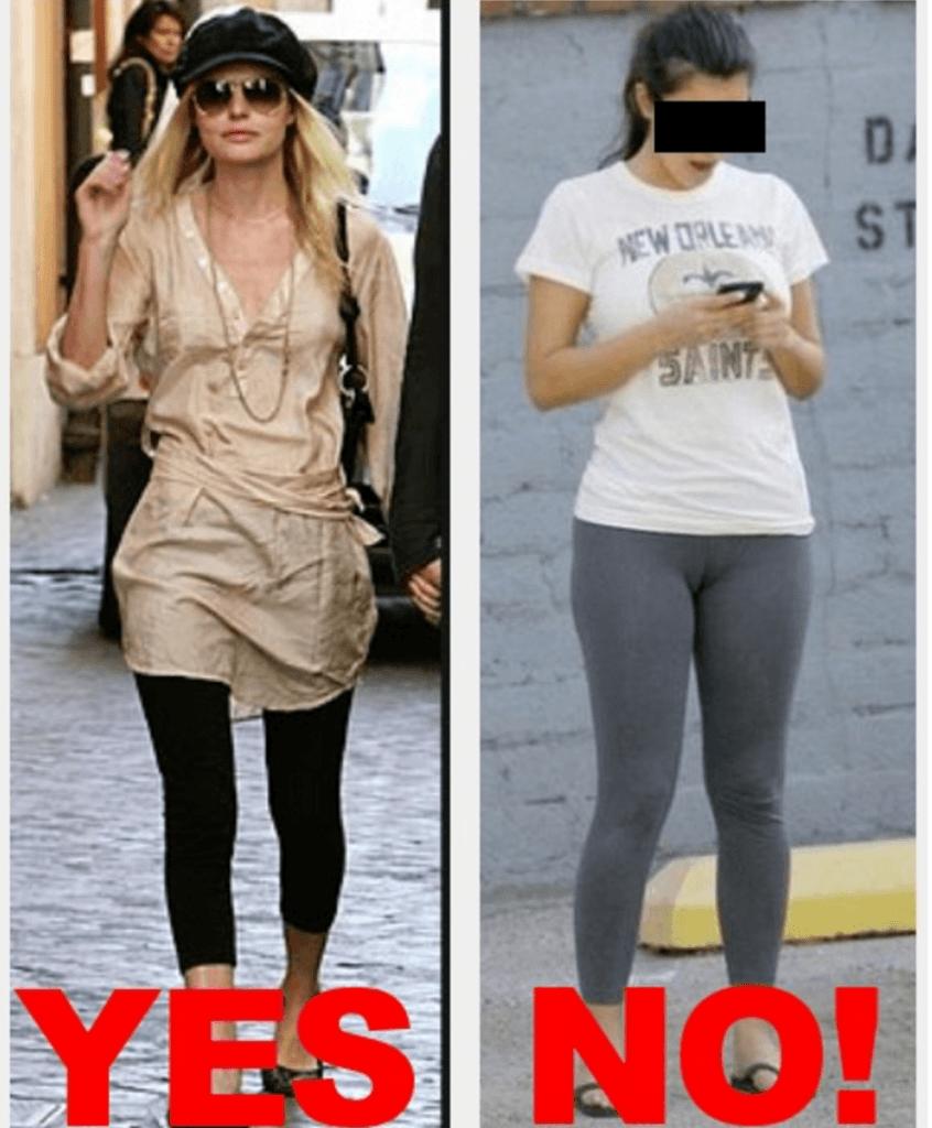 Леггинсы в сезоне 2019-2020 носят с платьями разной длины.