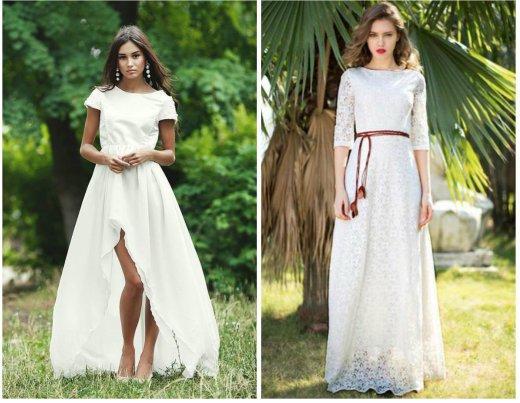 белое платье в пол из Гипюра