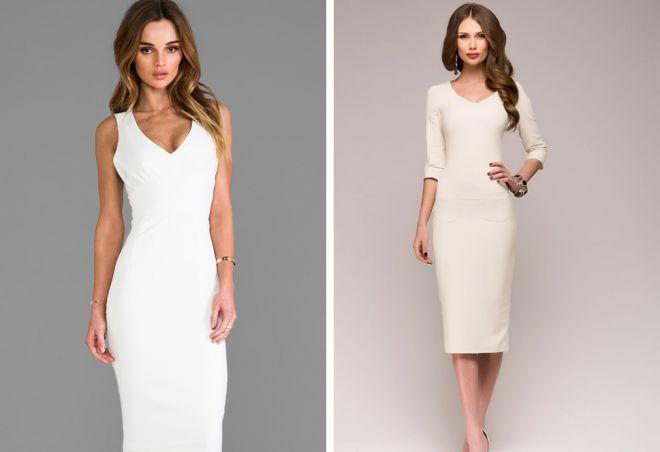 белое платье в пол Карандаш