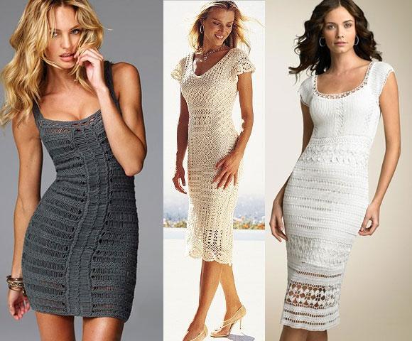 вечерние платья Вязаные