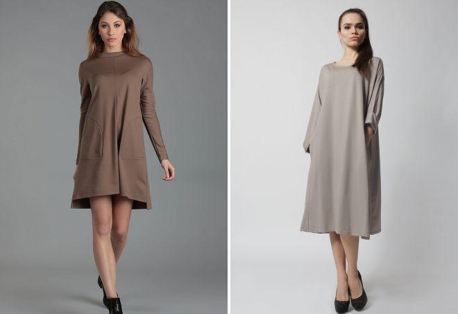 трикотажные платья Трапеция