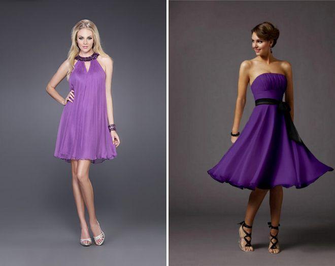 коктейльные платья Фиолетовое