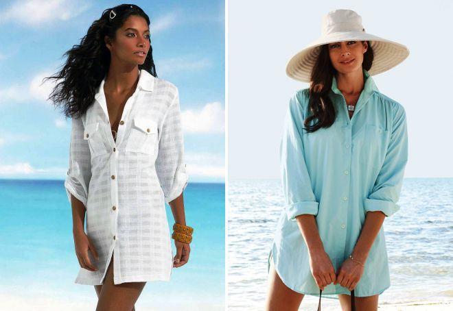 платье рубашка Пляжный