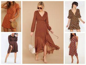 Красивые фасоны платьев в горошек и с чем их носить, выбор аксессуаров
