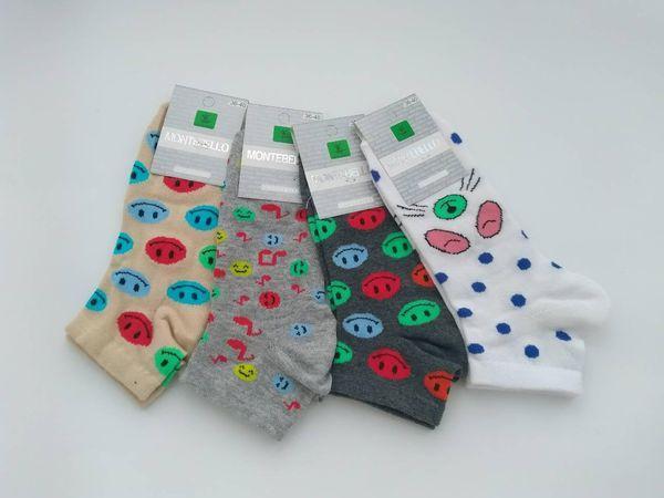 Женские носки с смайликами