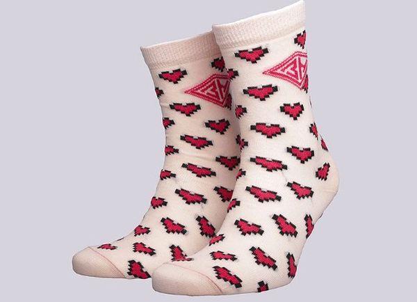 Женские носки сердечки