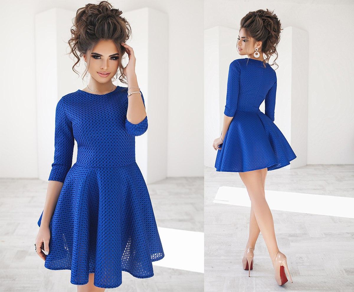 коктейльные платья Синее