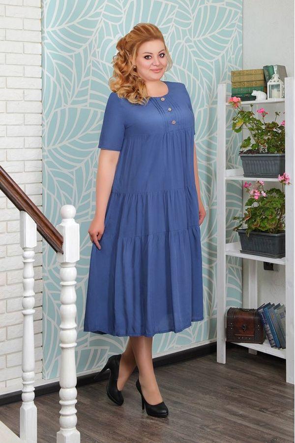 синее платья