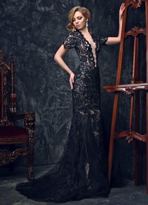 Платье в пол кружевное
