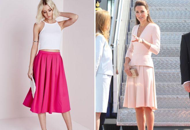 трикотажная юбка Розовый