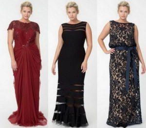 Модные модели вечерних платьев для полных женщин больших размеров