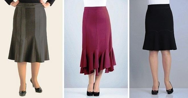 трикотажная юбка годе