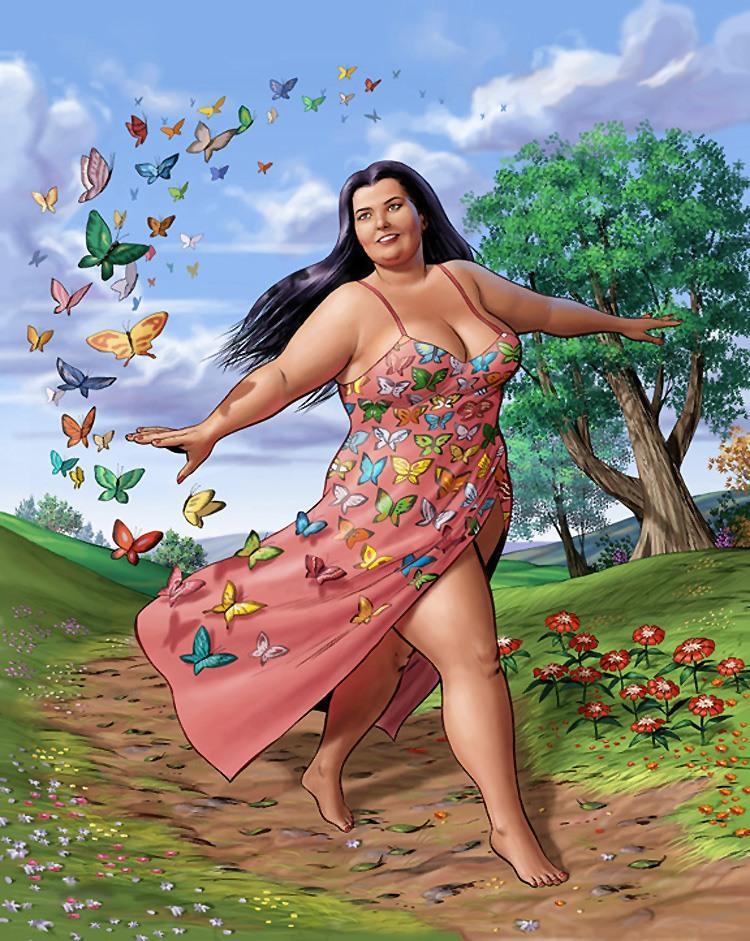 эх больший женщинами тела