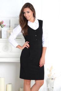 Фасоны сарафанов для офиса и модные образы для деловой женщины
