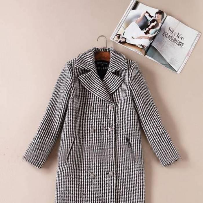 пальто полосатое