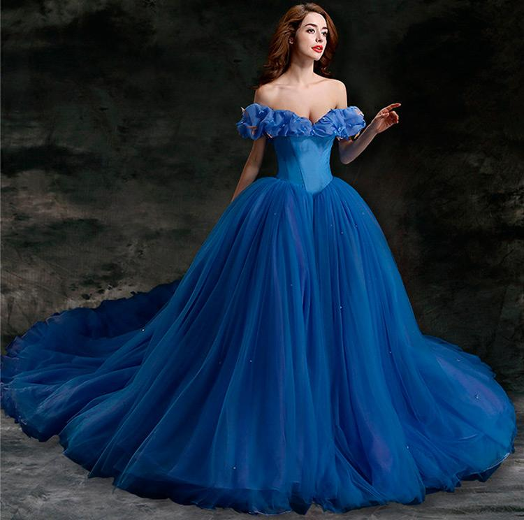сине платье