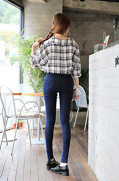 высокие джинсы