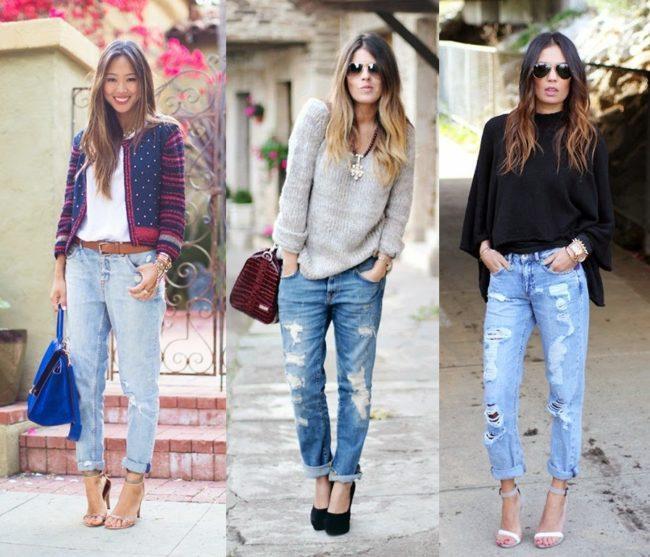 Стильные модели джинсов стиля бойфренды, с чем их лучше носить
