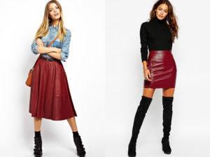 С чем можно носить юбку бордового цвета и обзор стильных моделей, правила сочетания