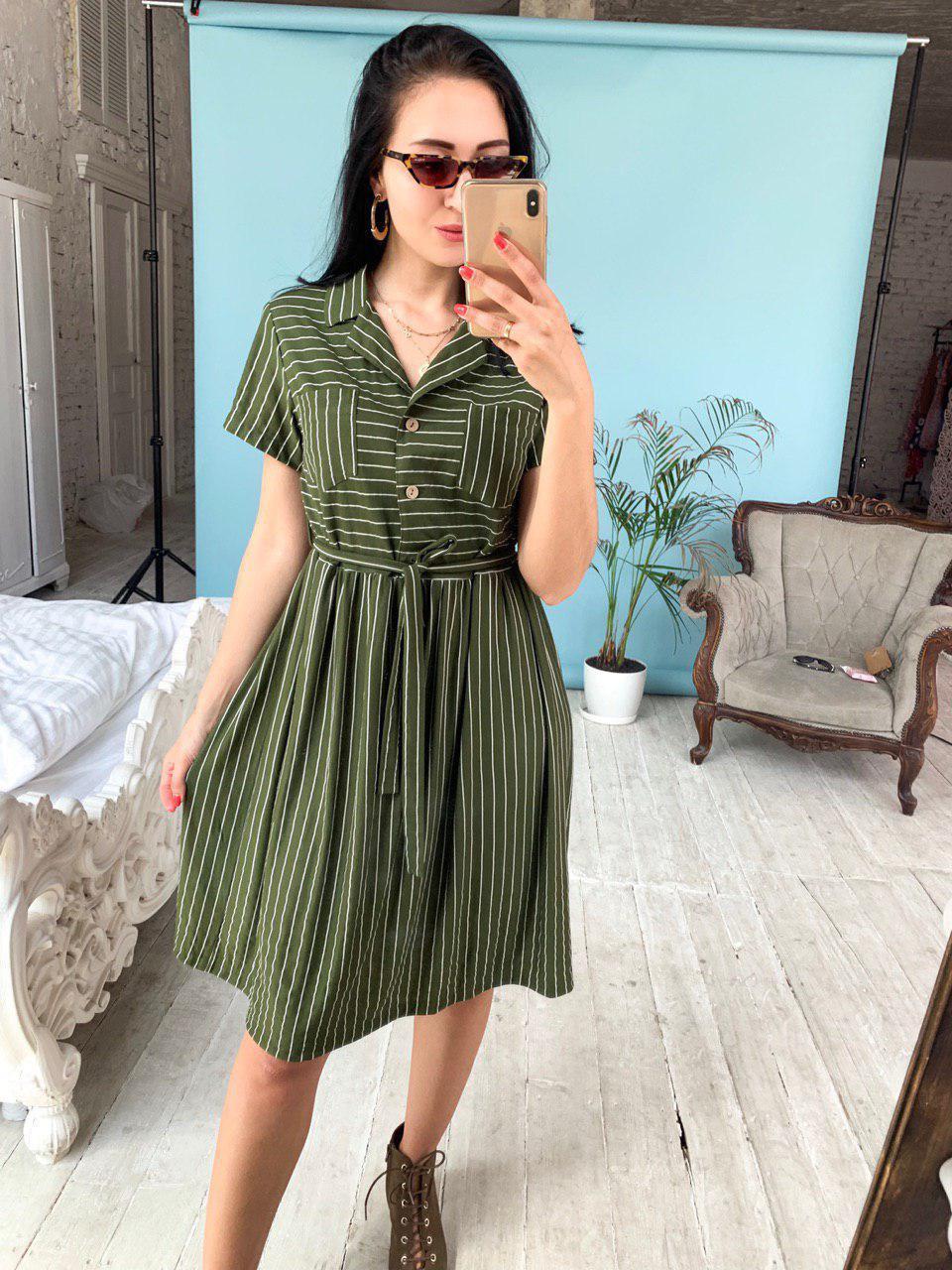 платье хаки