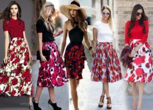 Счем носить юбку полусолнце, модные фасоны и модели