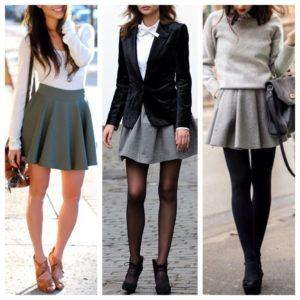 Популярные фасоны серых юбок, с чем носить и стильные образы